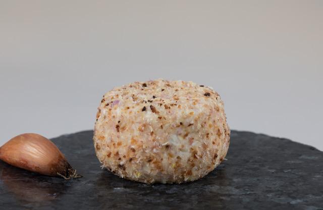 Photo du crottin aromatisé aux échalotes