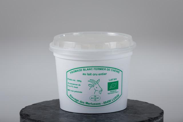 Photo d'un pot de faisselle de 500 g